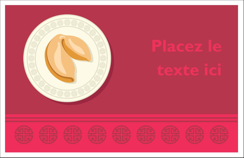 """8½"""" x 11"""" Cartes Et Articles D'Artisanat Imprimables - Nouvel An chinois avec biscuit"""