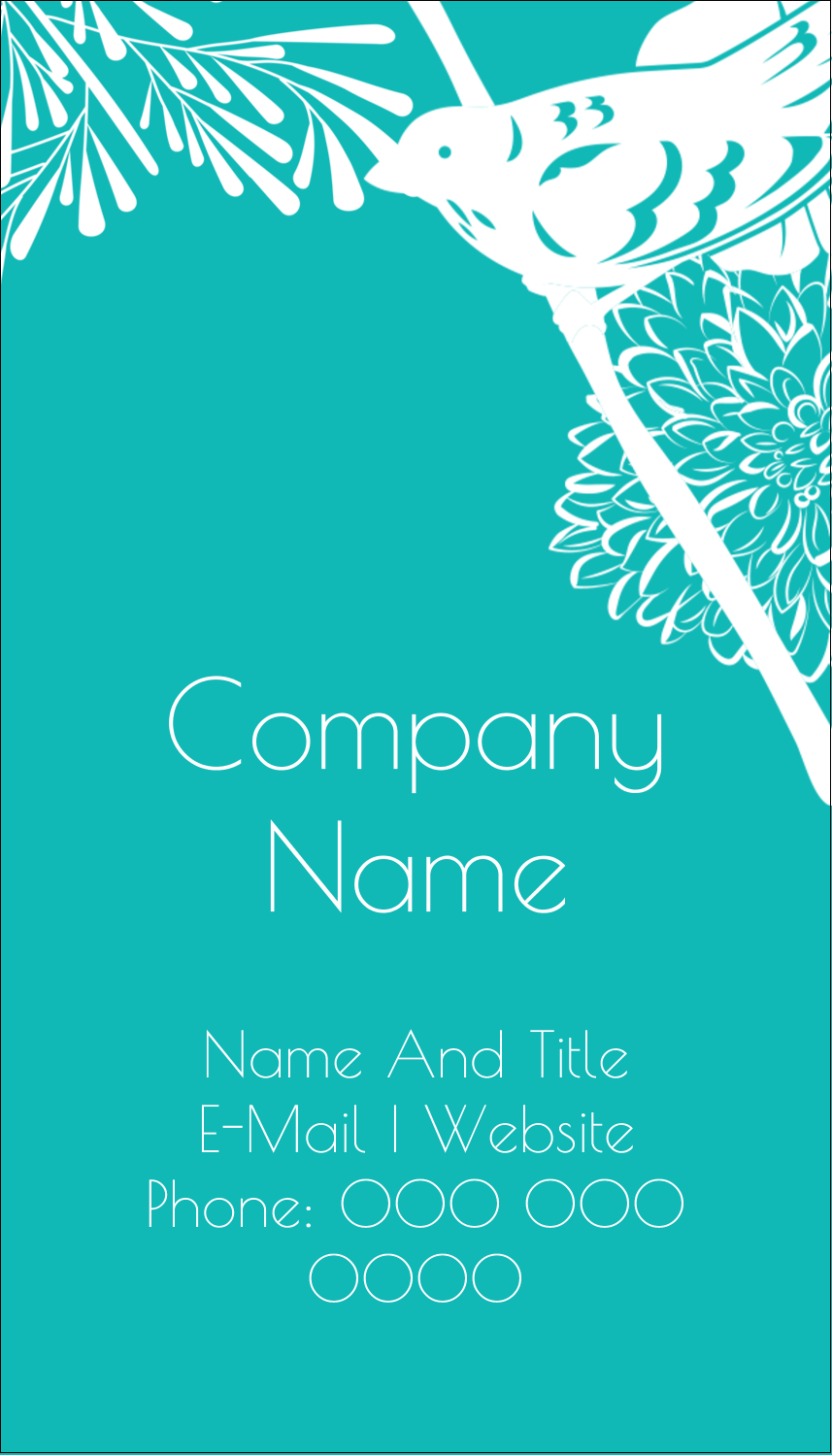 """3½"""" x 2"""" Business Card - Signs of Spring"""