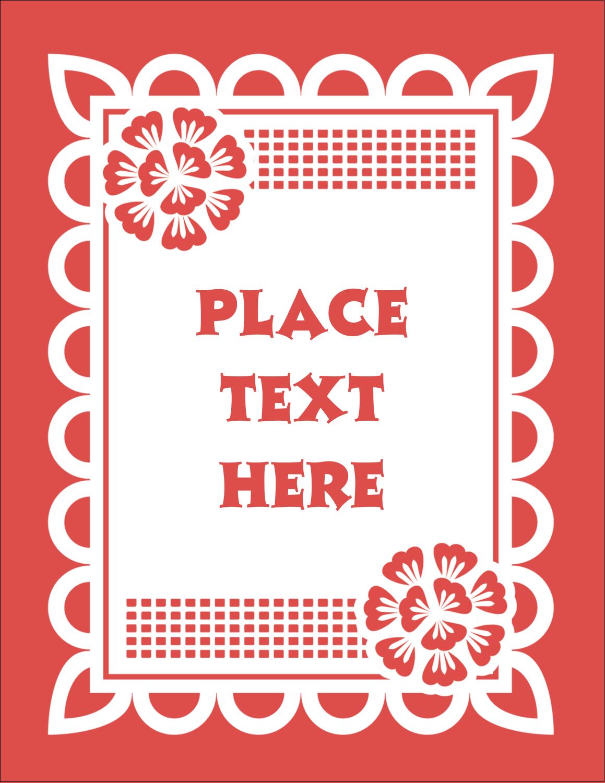 """4¼"""" x 5½"""" Postcard - Cinco de Mayo Papel Picado"""