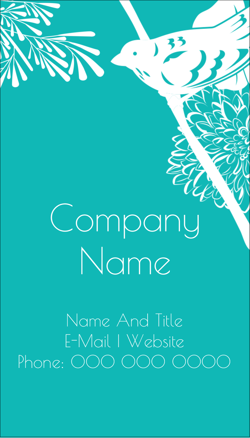 "3½"" x 2"" Business Card - Signs of Spring"