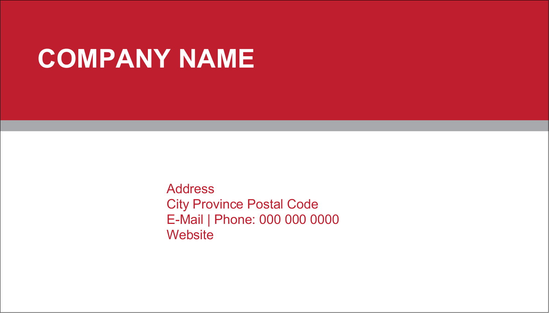 "2"" x 3½"" Business Card - Coastline Red"