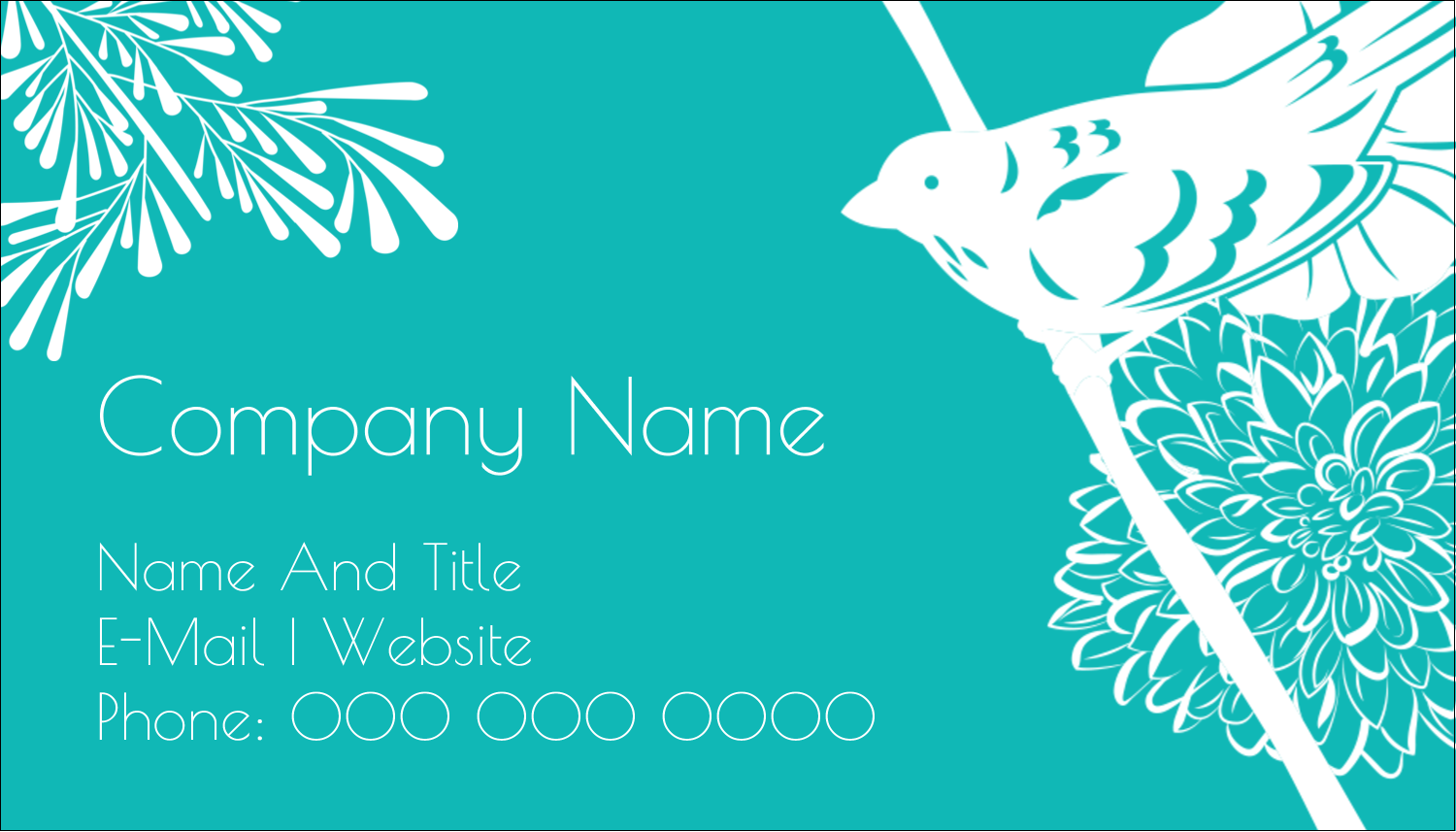 "2"" x 3½"" Business Card - Signs of Spring"