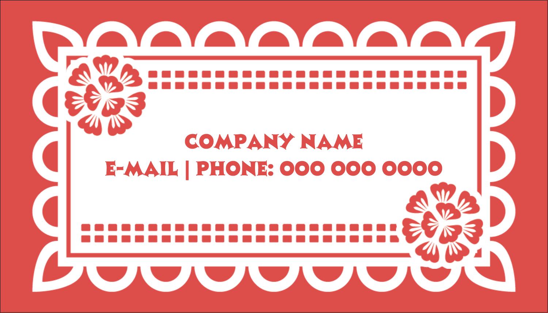 "2"" x 3½"" Business Card - Cinco de Mayo Papel Picado"