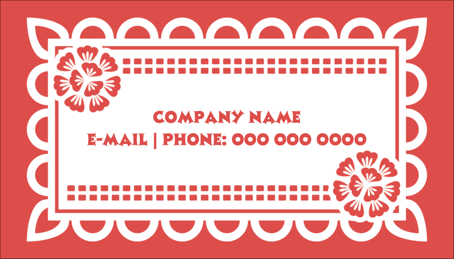 "2"" x 3½"" Business Card - Cinco de Mayo Papel Picado"