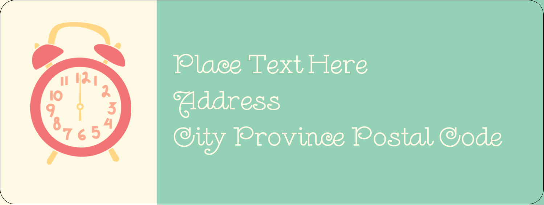 "⅔"" x 1¾"" Address Label - Clocks"