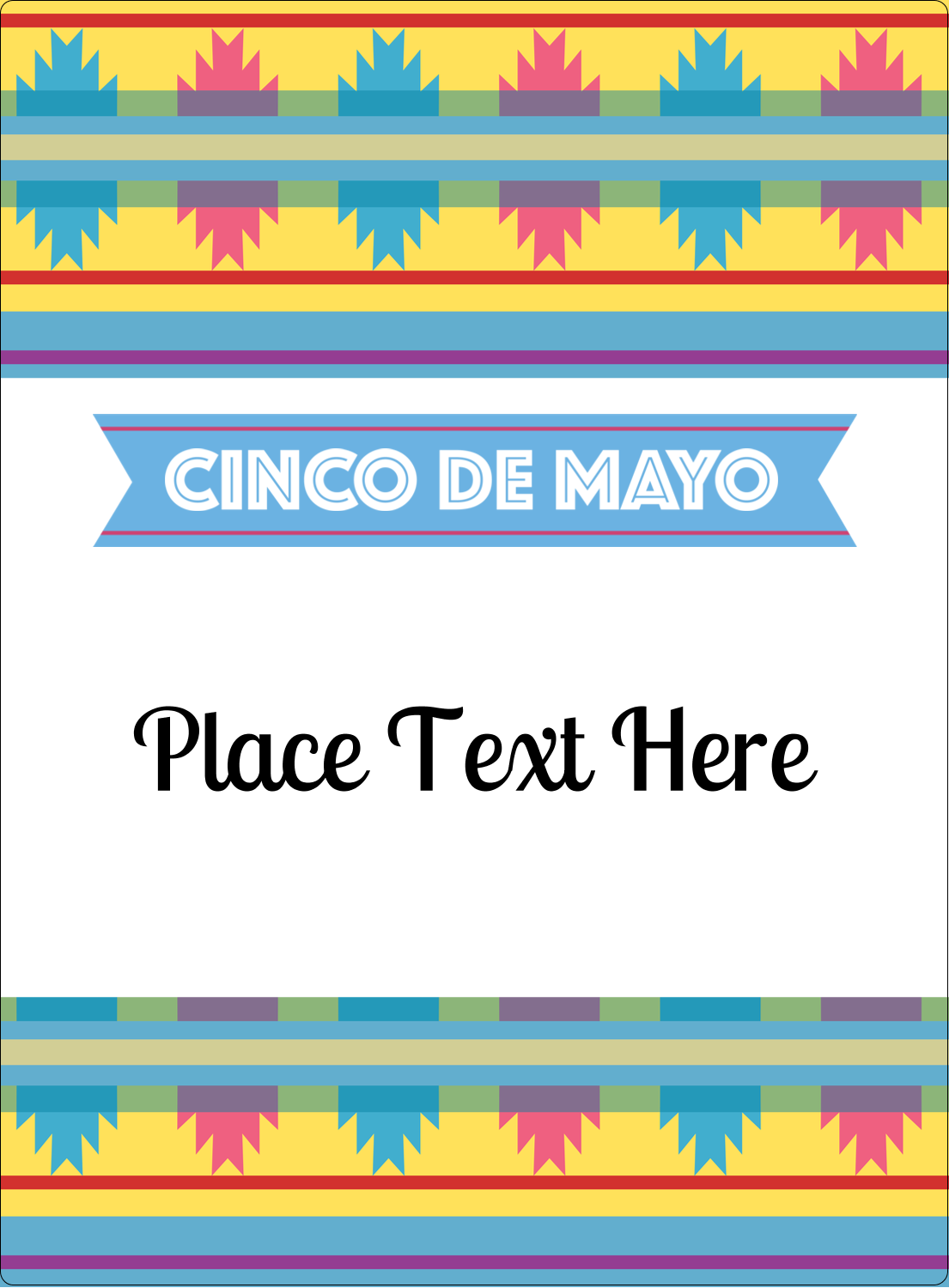 "4¾"" x 3½"" Rectangular Label - Cinco de Mayo Serape"