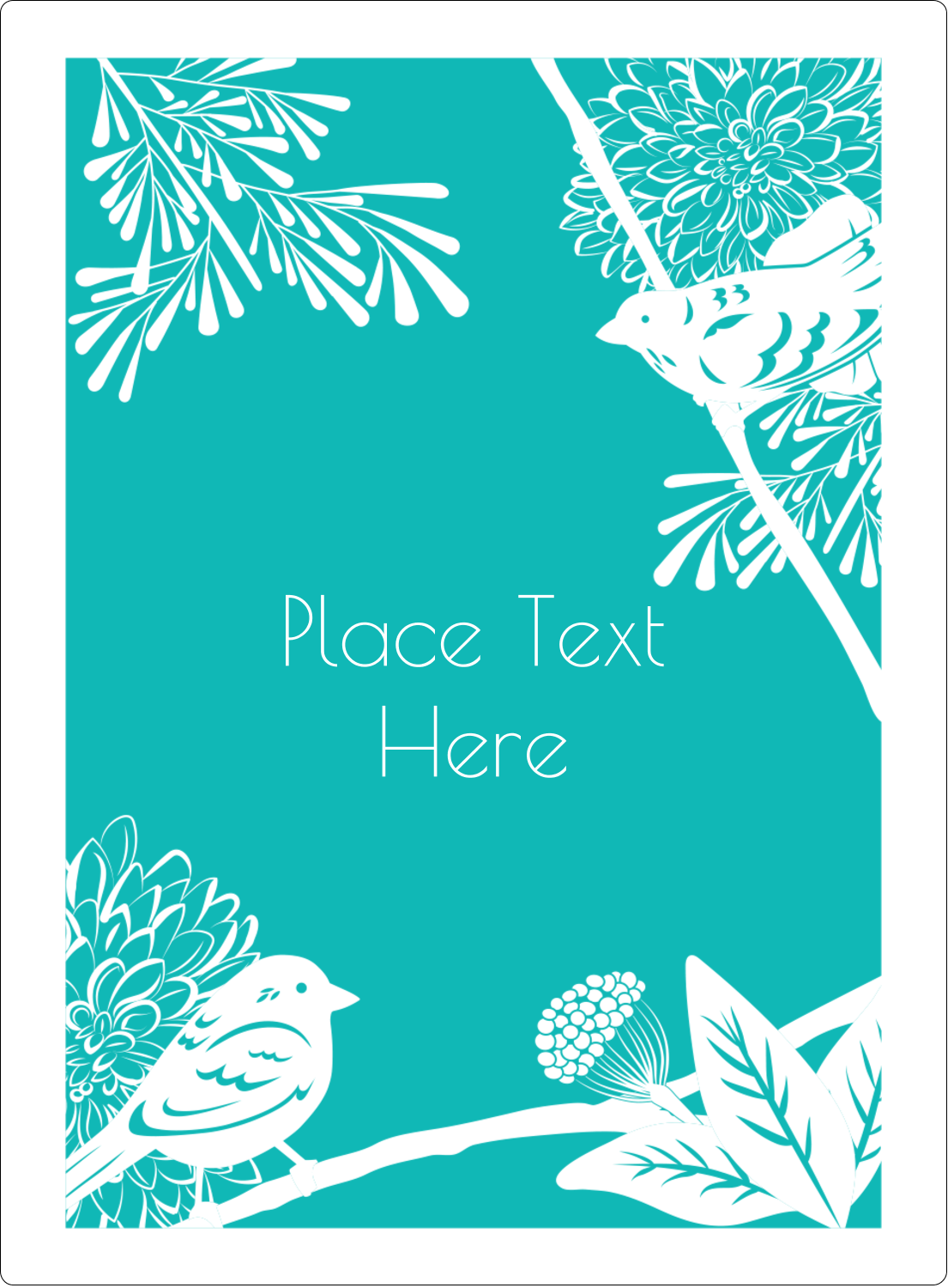 "4¾"" x 3½"" Rectangular Label - Signs of Spring"