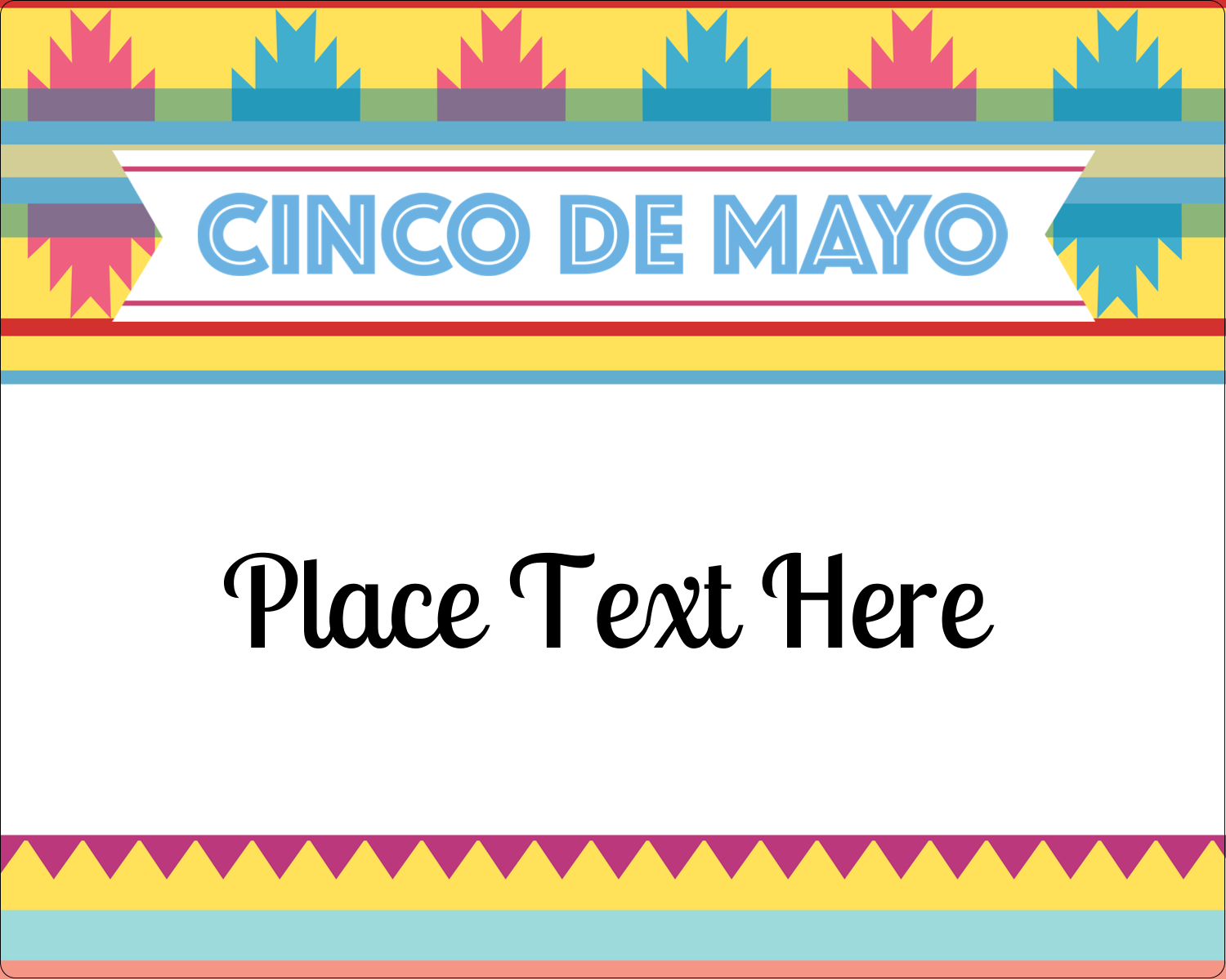 "3"" x 3¾"" Rectangular Label - Cinco de Mayo Serape"
