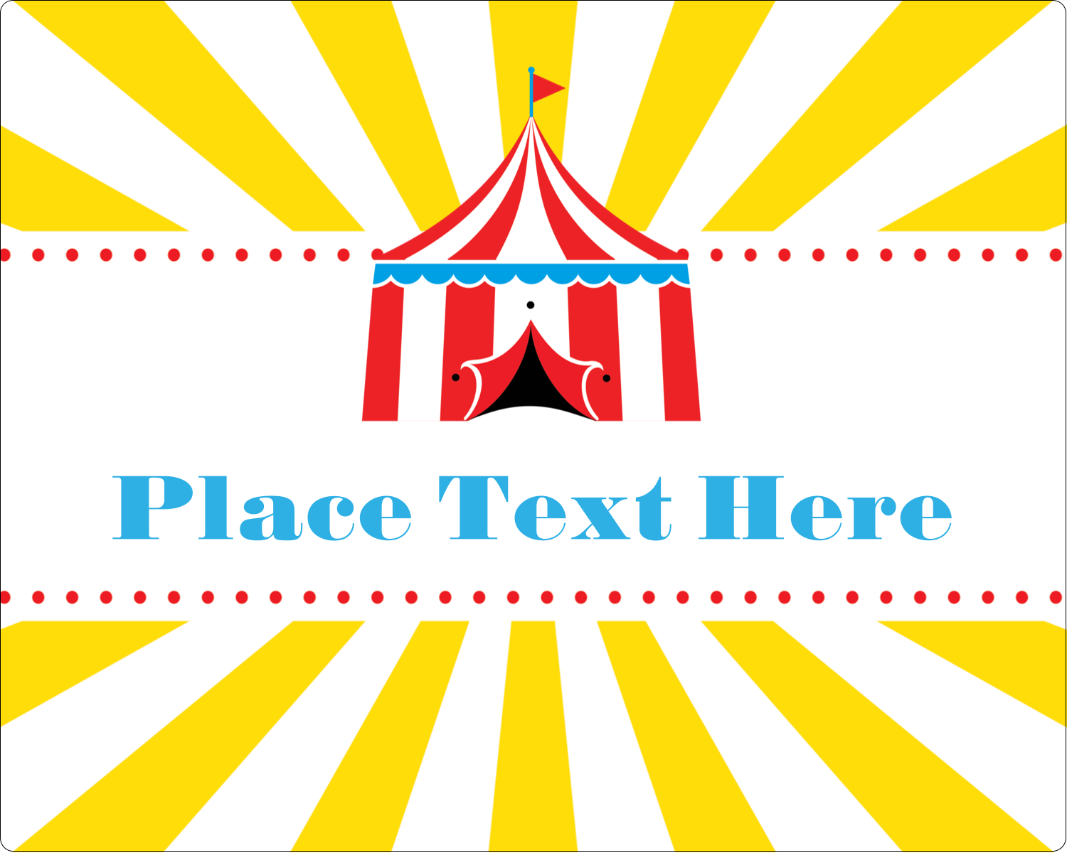 "3"" x 3¾"" Rectangular Label - Circus Tent"