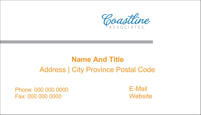 "2"" x 3½"" Business Card - Coastline Orange"