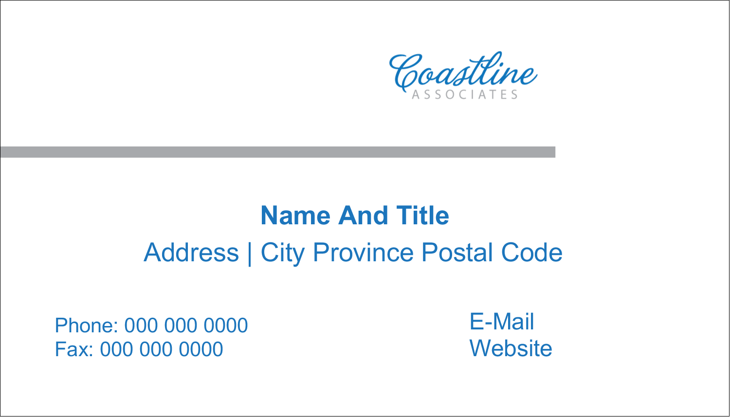 "2"" x 3½"" Business Card - Coastline Blue"