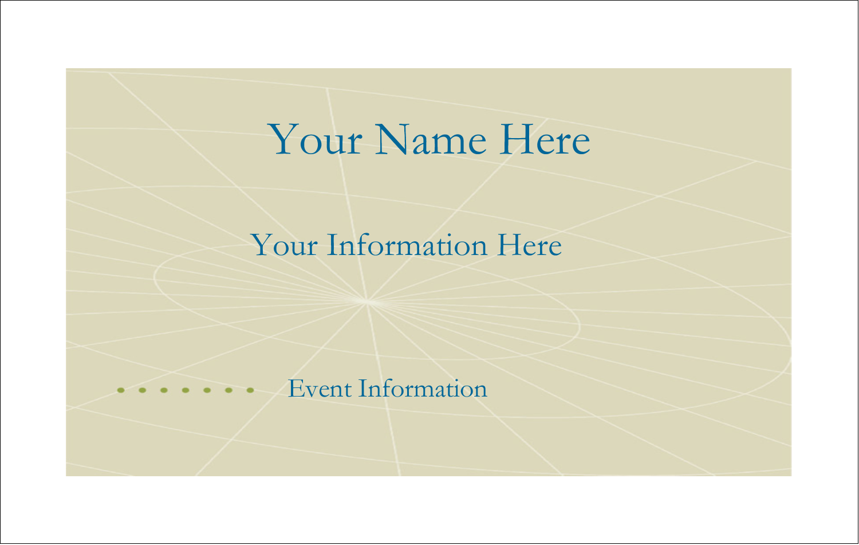 "2¼"" x 3½"" Name Tags - Comm Tech"