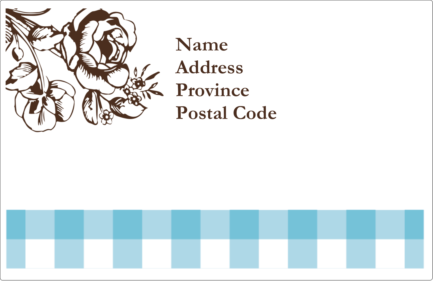 "5½"" x 8½"" Shipping Label - Country Brunch"