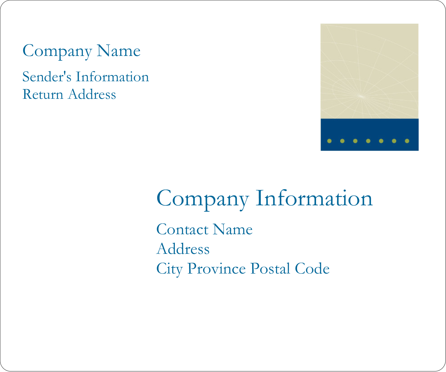 "3⅓"" x 4"" Shipping Label - Comm Tech"