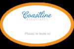 Littoral orange Étiquettes carrées - gabarit prédéfini. <br/>Utilisez notre logiciel Avery Design & Print Online pour personnaliser facilement la conception.