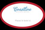 Littoral rouge Étiquettes carrées - gabarit prédéfini. <br/>Utilisez notre logiciel Avery Design & Print Online pour personnaliser facilement la conception.