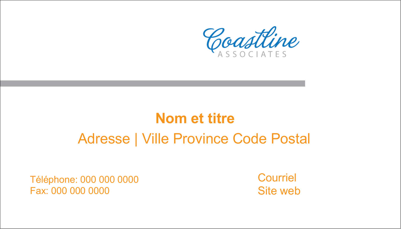 "2"" x 3½"" Carte d'affaire - Littoral orange"
