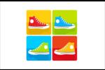 Littoral rouge Cartes de souhaits pliées en deux - gabarit prédéfini. <br/>Utilisez notre logiciel Avery Design & Print Online pour personnaliser facilement la conception.