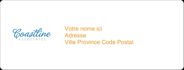 """1"""" x 4"""" Étiquettes d'adresse - Littoral orange"""