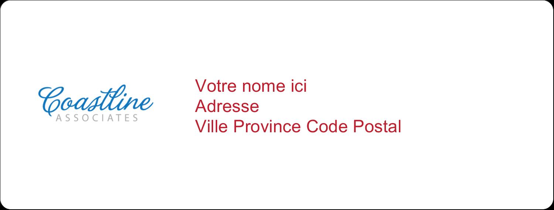 """1"""" x 4"""" Étiquettes d'adresse - Littoral rouge"""