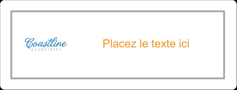 """2⅝"""" x 1"""" Étiquettes Voyantes - Littoral orange"""