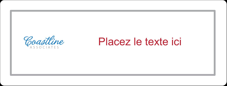 """2⅝"""" x 1"""" Étiquettes Voyantes - Littoral rouge"""