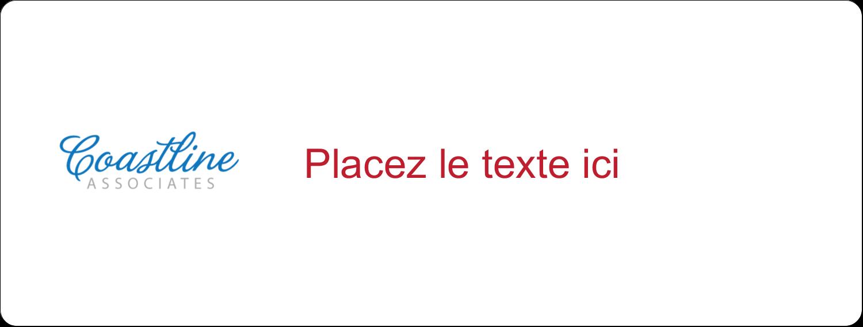 """4"""" x 3⅓"""" Étiquettes D'Identification - Littoral rouge"""