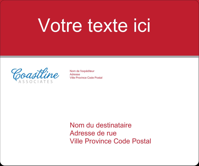 """½"""" x 1¾"""" Étiquettes D'Adresse - Littoral rouge"""