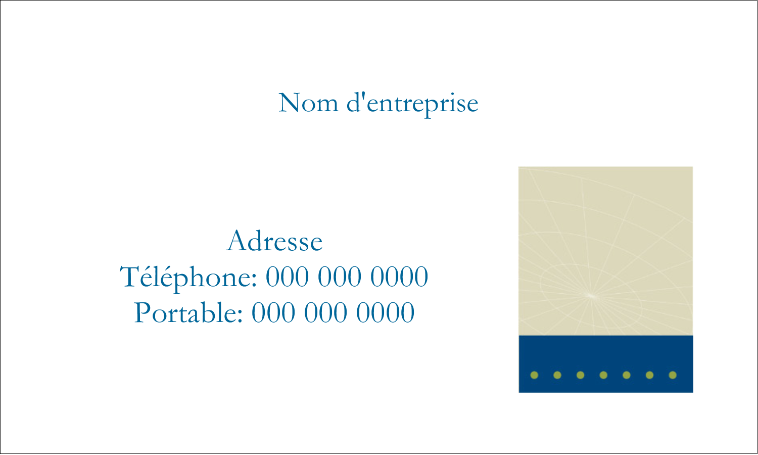 "2"" x 3½"" Cartes d'affaires - Tech Comm"