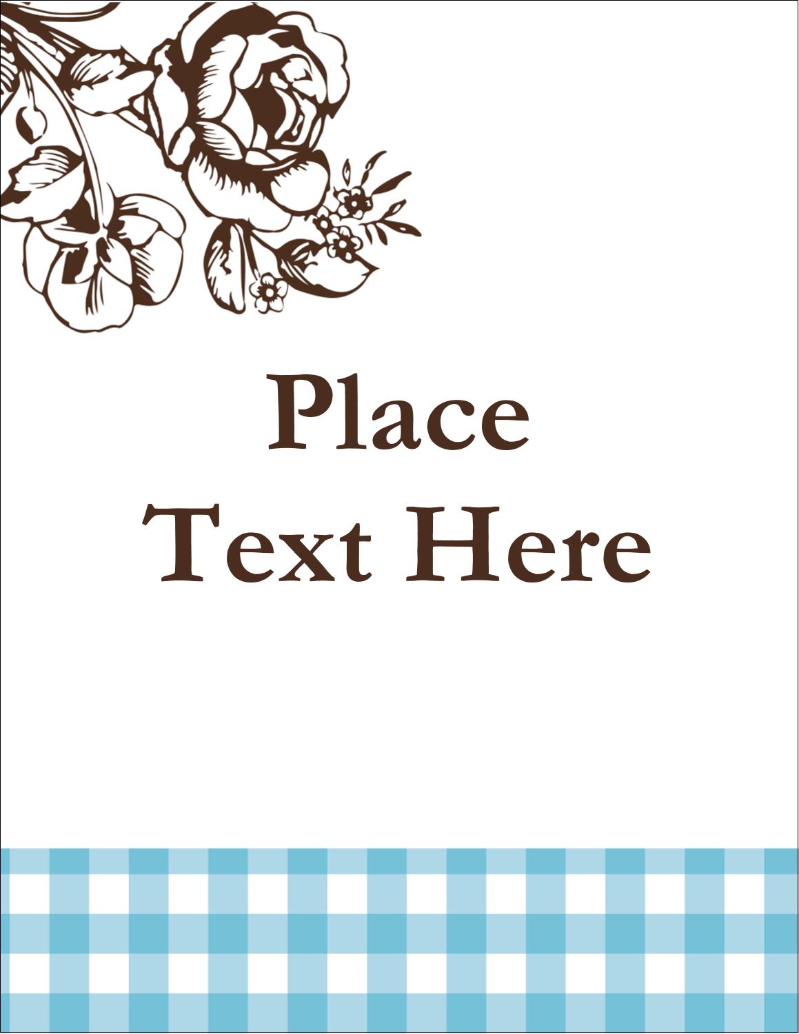 """5½"""" x 4¼"""" Postcard - Country Brunch"""