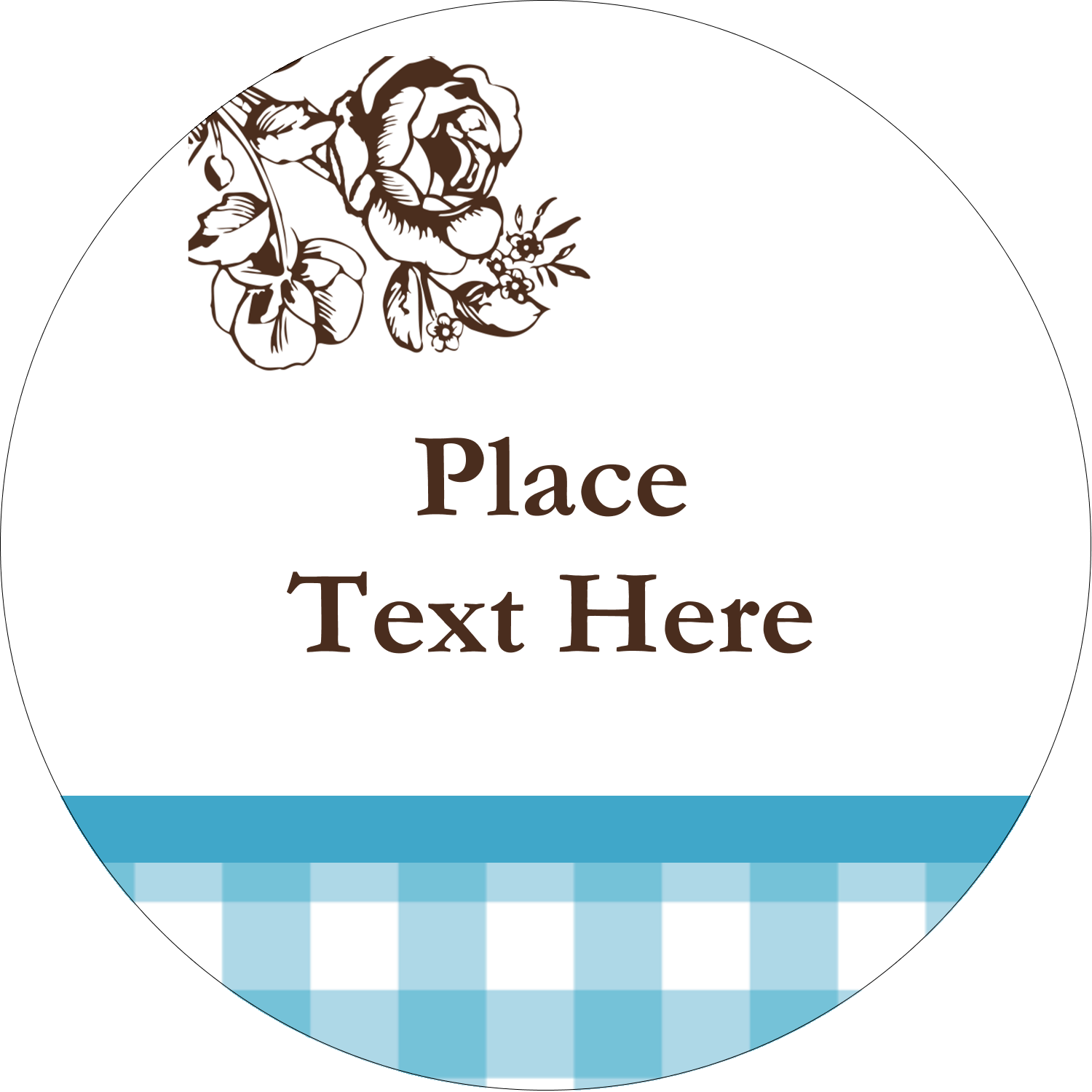 """2½"""" Round Label - Country Brunch"""
