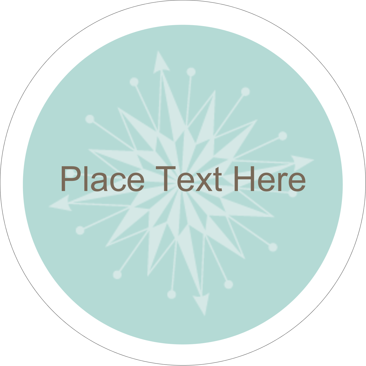 "2½"" Round Label - Creative Spark"