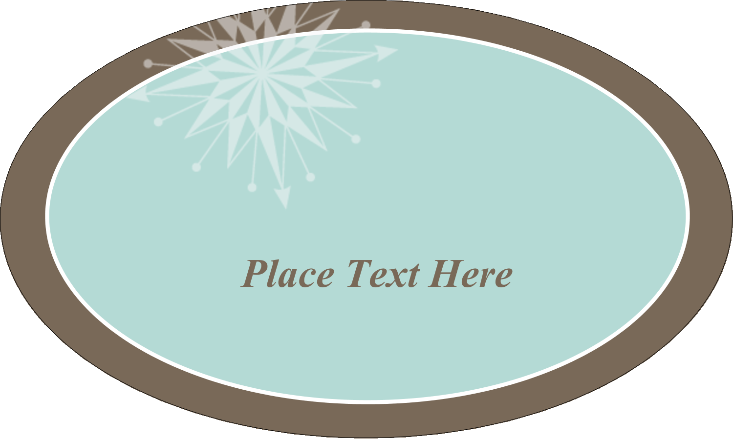 "1½"" x 2½"" Oval Glossy Label - Creative Spark"