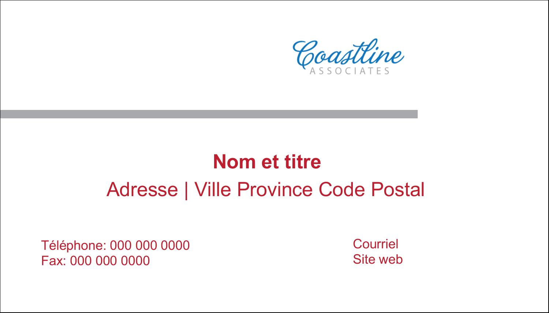 """3"""" x 5"""" Cartes Pour Le Bureau - Littoral rouge"""