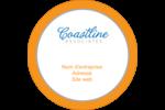 Littoral orange Étiquettes rondes - gabarit prédéfini. <br/>Utilisez notre logiciel Avery Design & Print Online pour personnaliser facilement la conception.
