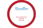 Littoral rouge Étiquettes rondes - gabarit prédéfini. <br/>Utilisez notre logiciel Avery Design & Print Online pour personnaliser facilement la conception.