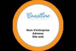 Littoral orange Étiquettes arrondies - gabarit prédéfini. <br/>Utilisez notre logiciel Avery Design & Print Online pour personnaliser facilement la conception.