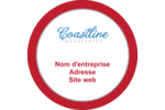 Littoral rouge Étiquettes arrondies - gabarit prédéfini. <br/>Utilisez notre logiciel Avery Design & Print Online pour personnaliser facilement la conception.