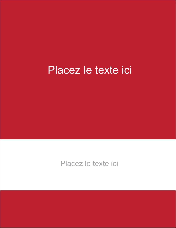 "5½"" x 4¼"" Carte Postale - Littoral rouge"