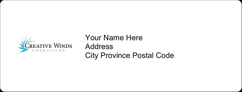 "1"" x 2⅝"" Address Label - Creative Flame"