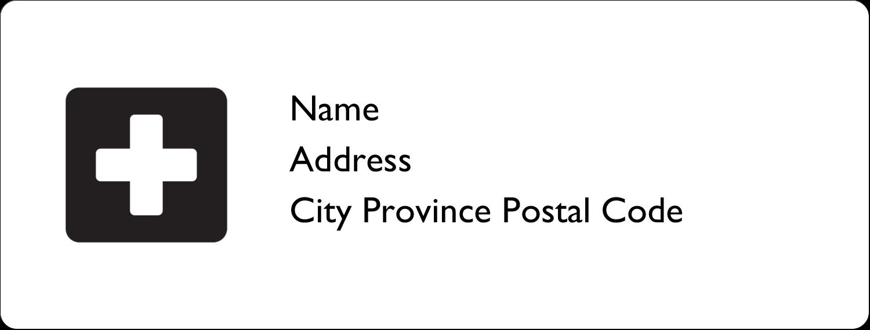 "1"" x 2⅝"" Address Label - Cross Medical"