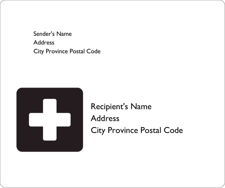 "3⅓"" x 4"" Shipping Label - Cross Medical"