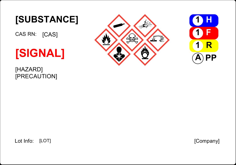 "5"" x 3½"" Industrial Label - GHS Wizard"