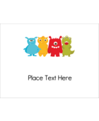 Give projects an adorable dose of fun with pre-designed Cute Monsters templates.
