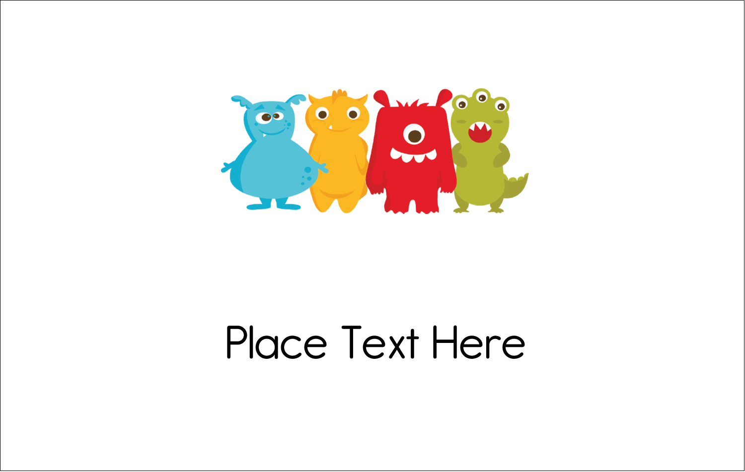 2¼ x 3½ Name Tags - Cute Monsters