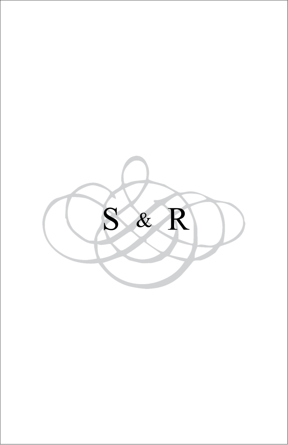 "5"" x 8½"" Half Fold Card - Wedding Monogram"