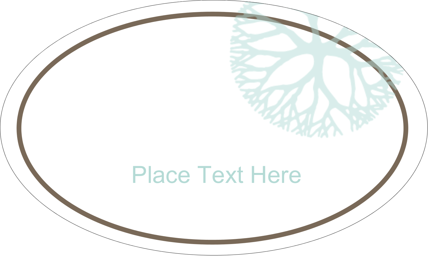 "1½"" x 2½"" Oval Glossy Label - Creative Floral"