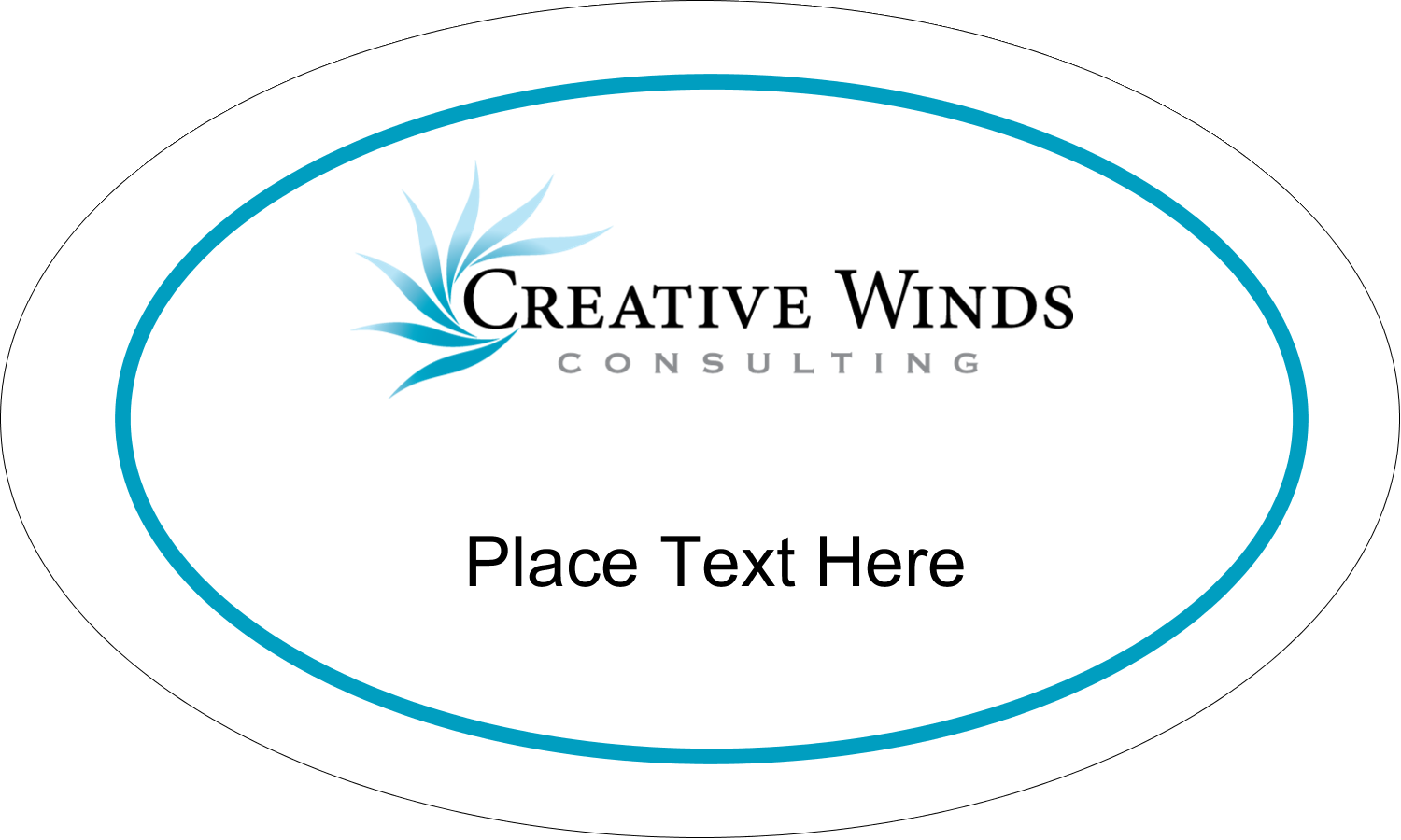 "1½"" x 2½"" Oval Glossy Label - Creative Flame"