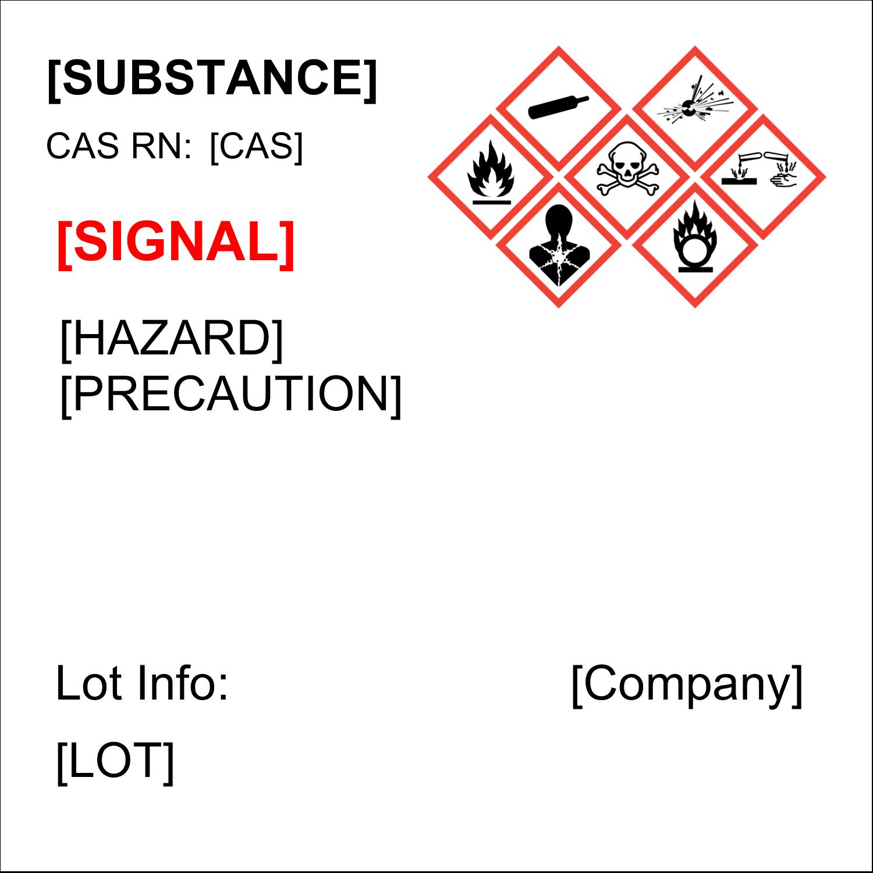 "2"" x 2"" Industrial Label - GHS Wizard"