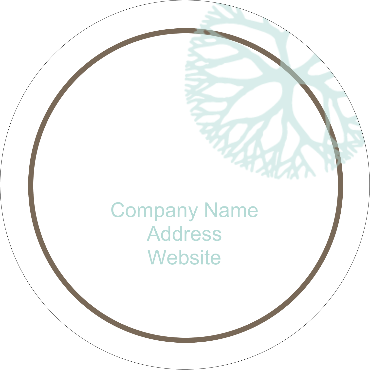 "2"" Round Label - Creative Floral"
